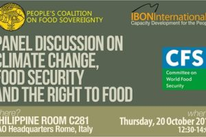 CALL FOR INTERNATIONAL ACTION ON WORLD FOOD DAY