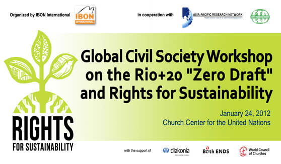 Global Civil Society Workshop on the Rio+20