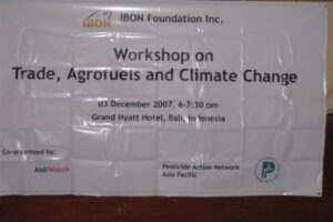 Workshop on Trade, Agrofuels and Climate Change