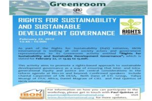 Rights for Sustainability and Sustainable Development Governance