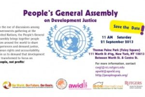Save the Date: Peoples General Assembly on Development Justice