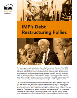 IMF's Debt Restructuring Follies