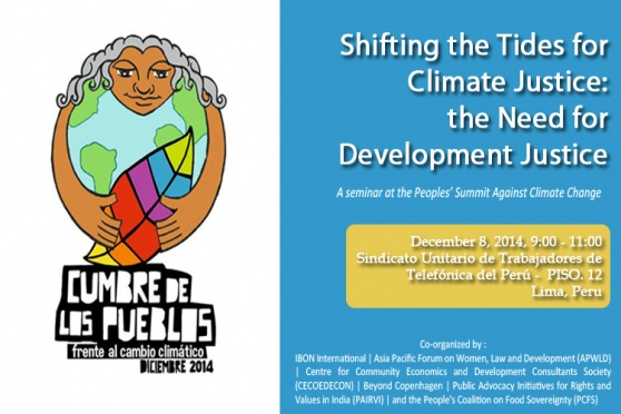 Shifting Tides for Climate Justice: the Need for Development Justice