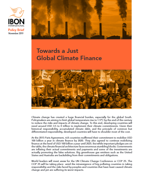 Towards a Just Global Climate Finance