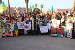 Thousands troop to the Kasbah as climate talks enter 2nd week
