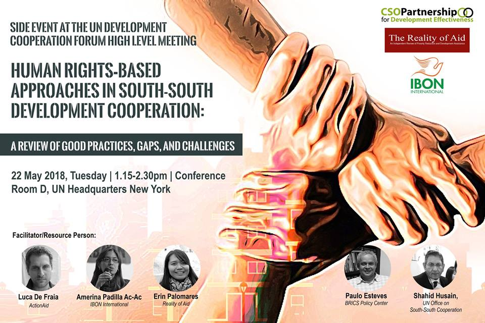 Side Event @ UN DCF: Human Rights-based Approaches in South-South Development Co-operation