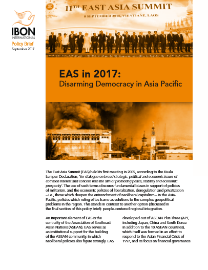 EAS in 2017: Disarming Democracy in Asia Pacific