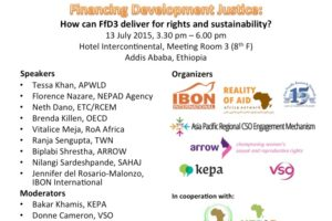 Financing Development Justice: How can FfD3 deliver for rights and sustainability?