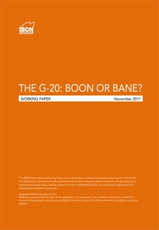 Primer on The G-20: Boon or Bane?