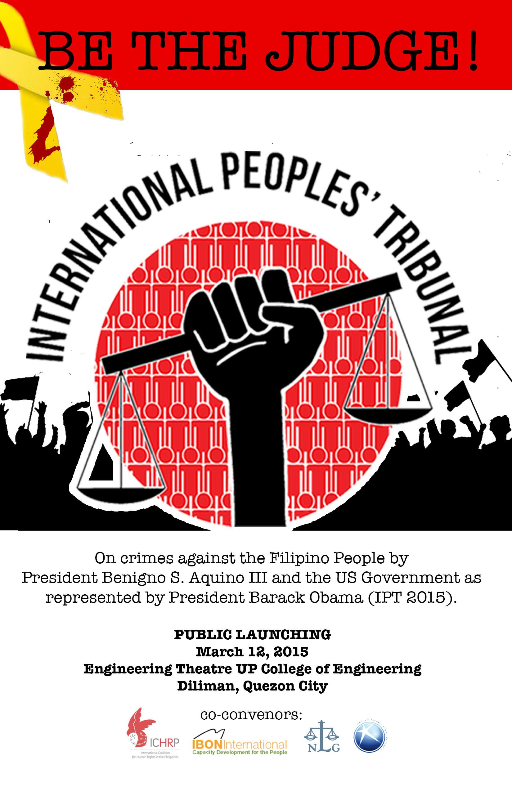 Be the Judge! International Peoples Tribunal (IPT) 2015