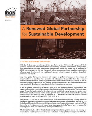 A Renewed Global Partnership for Sustainable Development