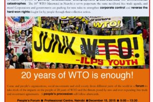 People's Forum: 20 Years of WTO is Enough!