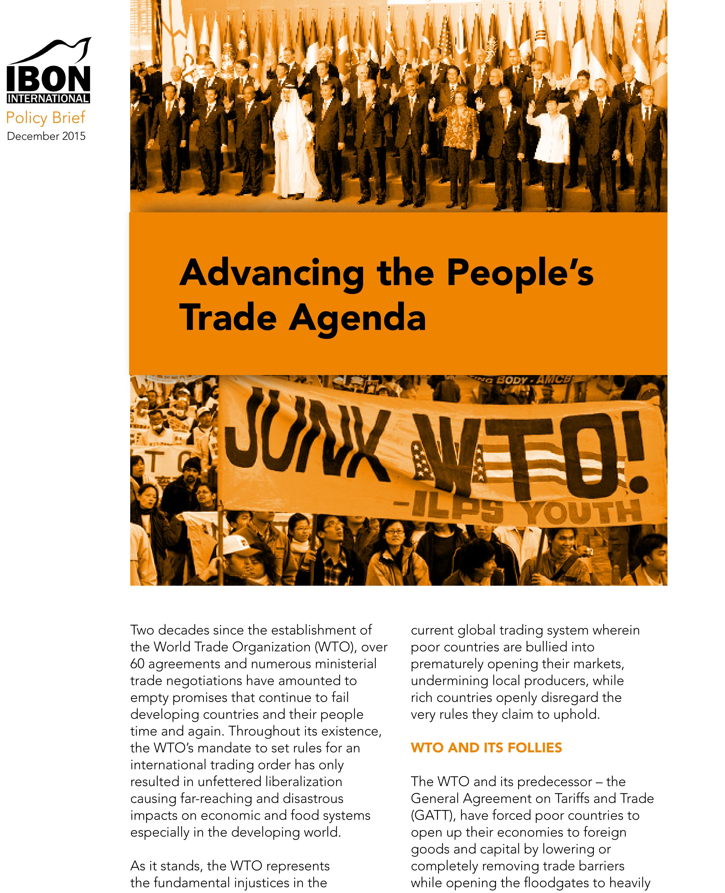 Advancing the People's Trade Agenda