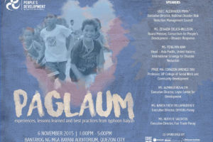 PAGLAUM: Experiences, Lessons Learned, and Best Practices from Typhoon Haiyan