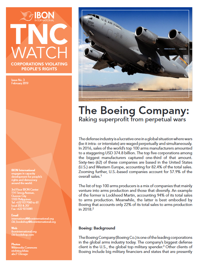 The Boeing Company: Raking superprofit from perpetual wars