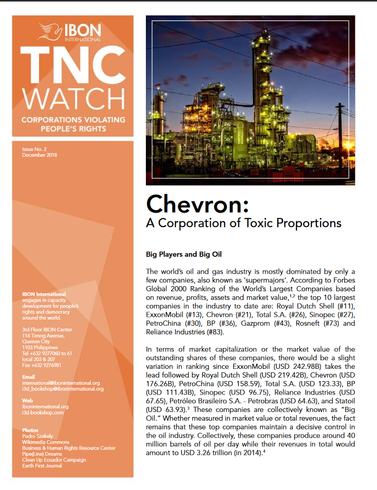 Chevron: A Corporation of Toxic Proportions