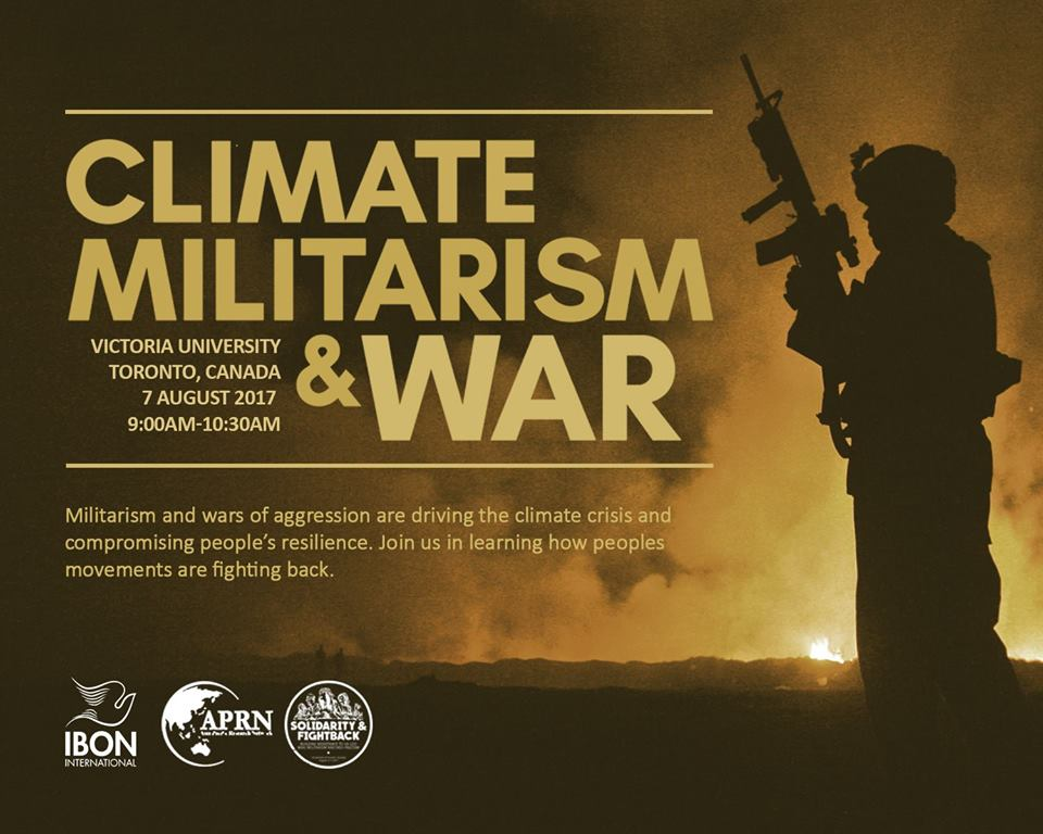 Workshop on Climate Militarism & War