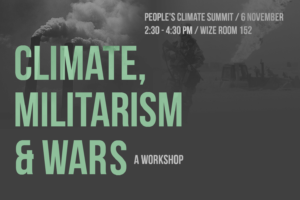 Climate, Militarism & Wars (People's Climate Summit)