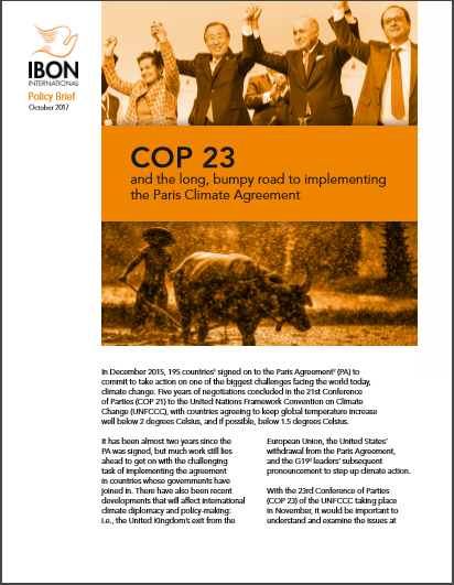 COP 23 and the long, bumpy road to implementing the Paris Climate Agreement