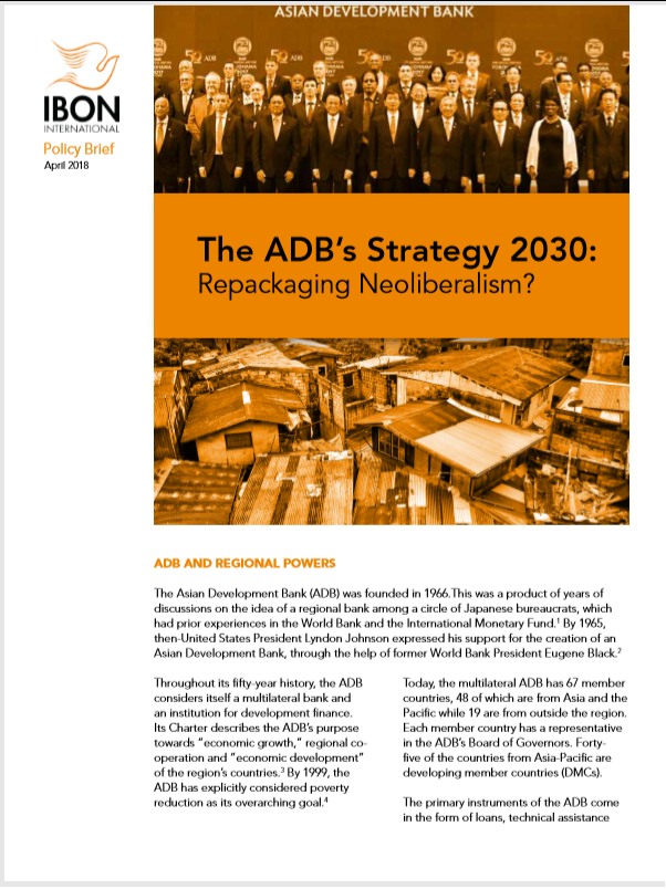 The ADB's Strategy 2030: Repackaging Neoliberalism?