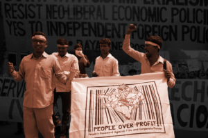 Out with neoliberalism, forward people-centred development