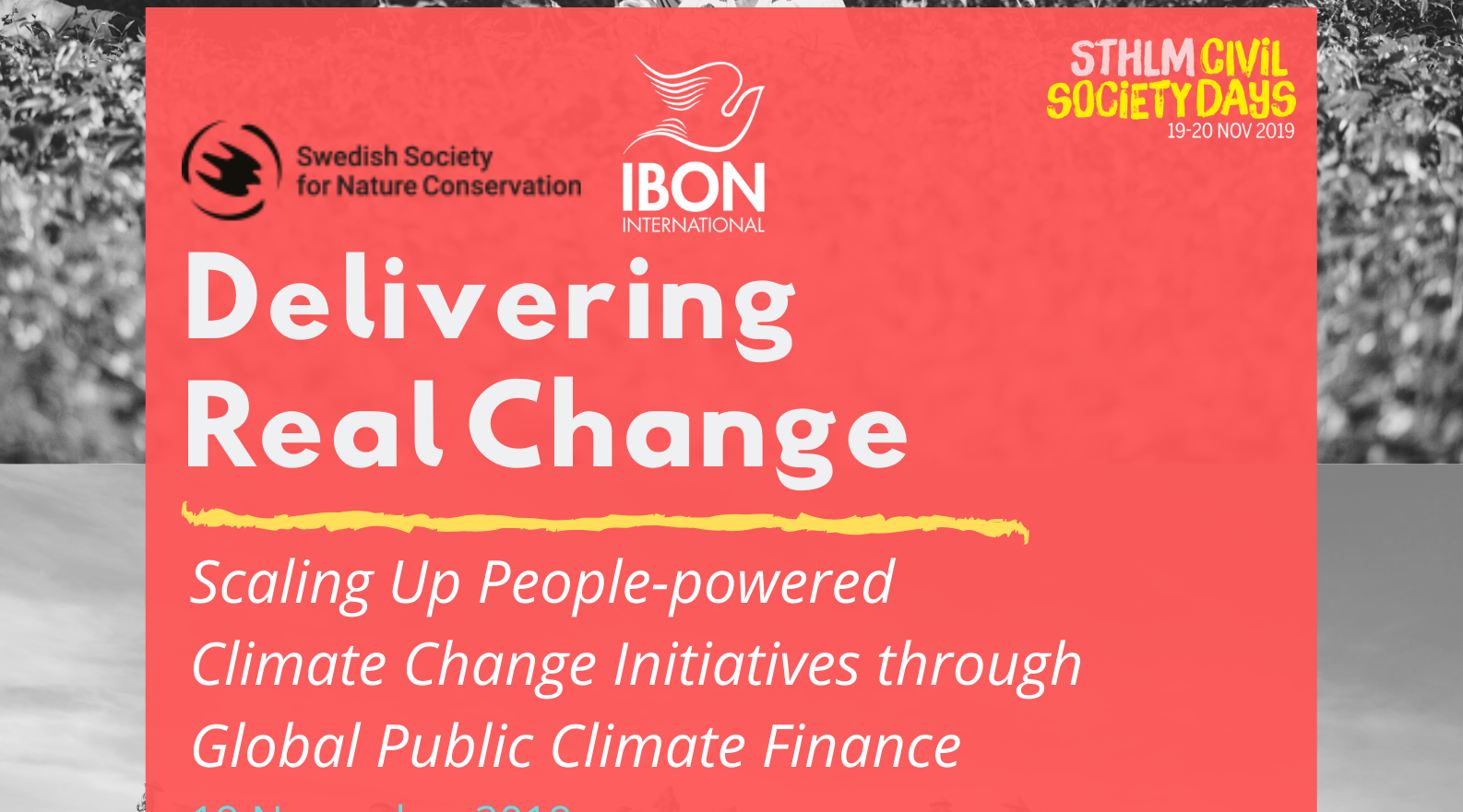 Delivering Real Change: Scaling Up People-powered, Climate Change Initiatives through Global Public Climate Finance