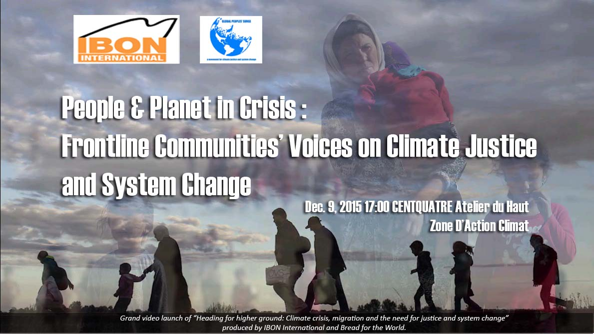 Global Peoples' Surge in Paris: Voices of Frontline Communities
