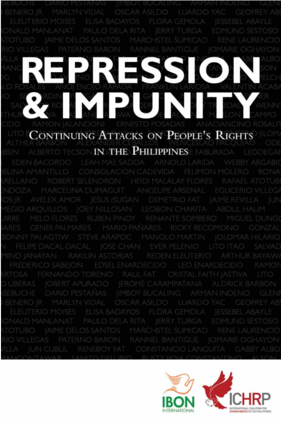 Repression & Impunity: Continuing attacks on people's rights in the Philippines