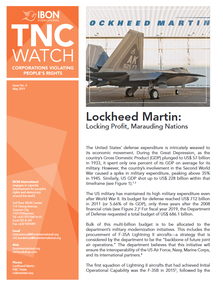 Lockheed Martin: Locking Profit, Marauding Nations