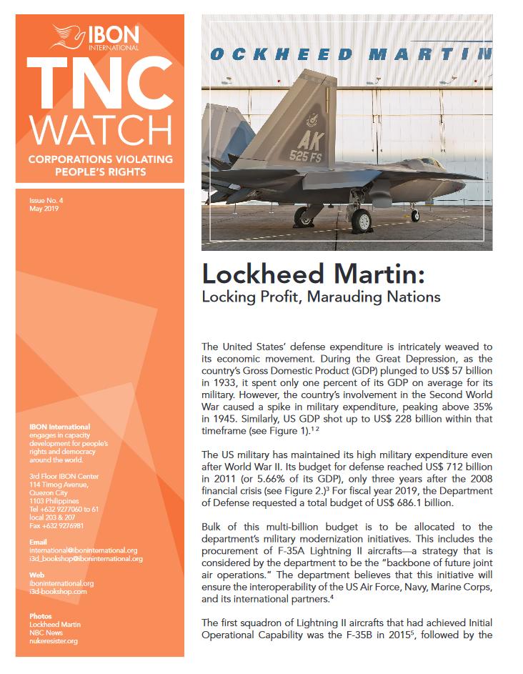 Lockheed Martin: Locking Profit, Marauding Nations