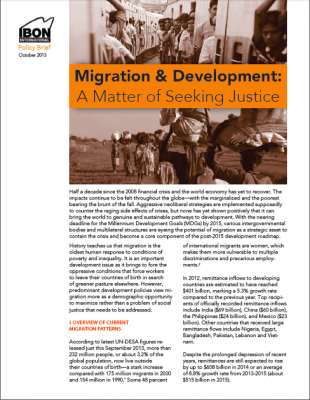 Migration and Development: A Matter of Seeking Justice