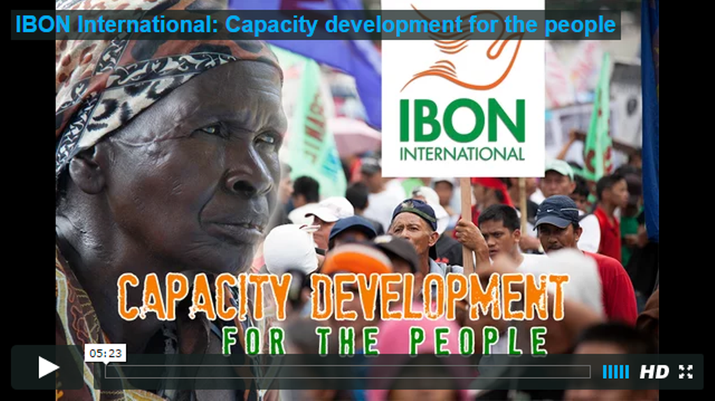 IBON International: Capacity development for the people