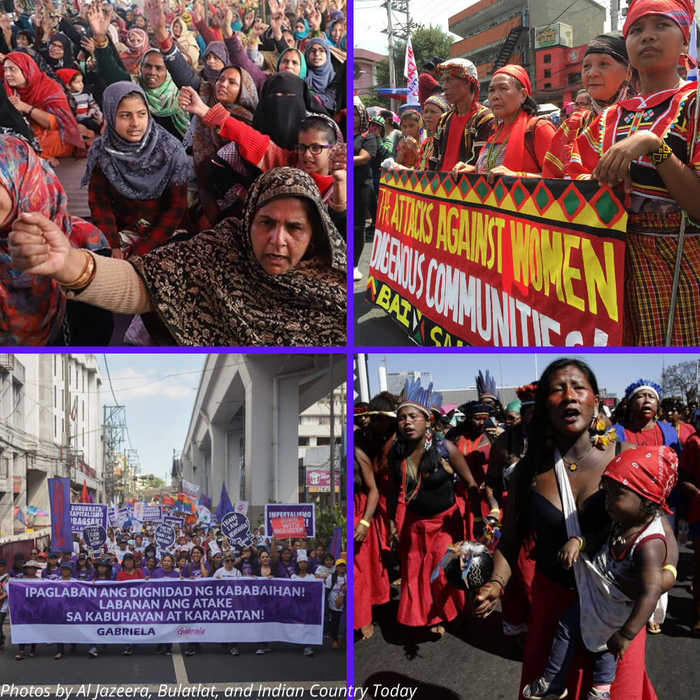 Women assert rights and collectively struggle towards genuine social transformation