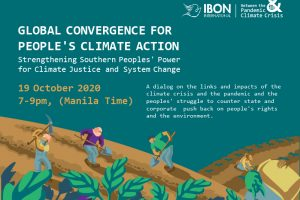 IBON Int'l Executive Director speaks at the Global Convergence for People's Climate Action