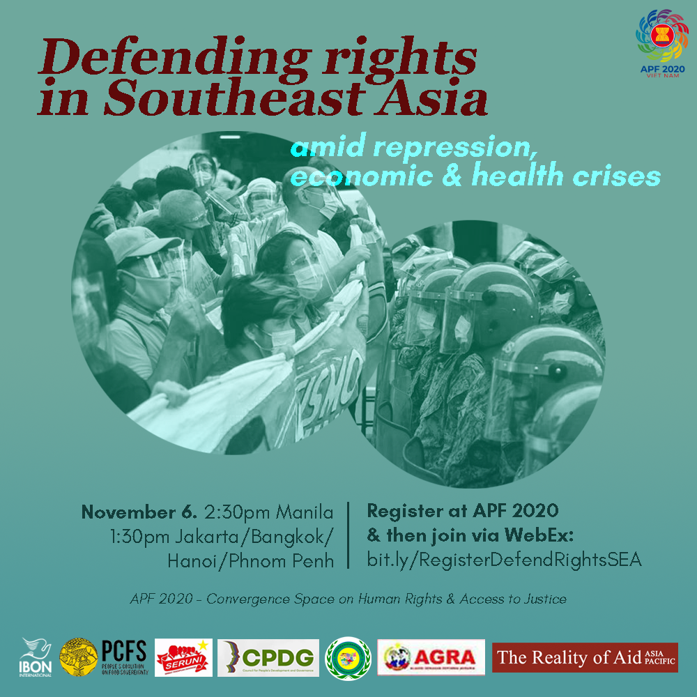 Online workshop: Defending rights in Southeast Asia amid repression, economic & health crises
