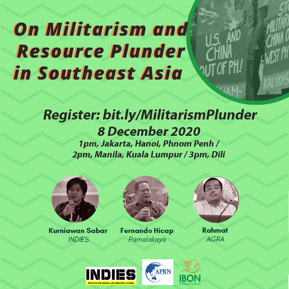 Webinar / On Militarism and Resource Plunder in Southeast Asia