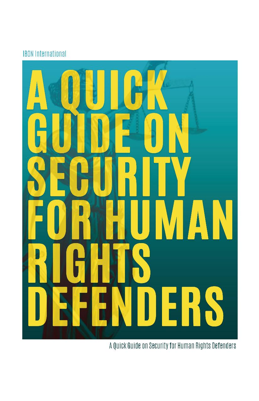 UPDATED / A Quick Guide on Security for Human Rights Defenders