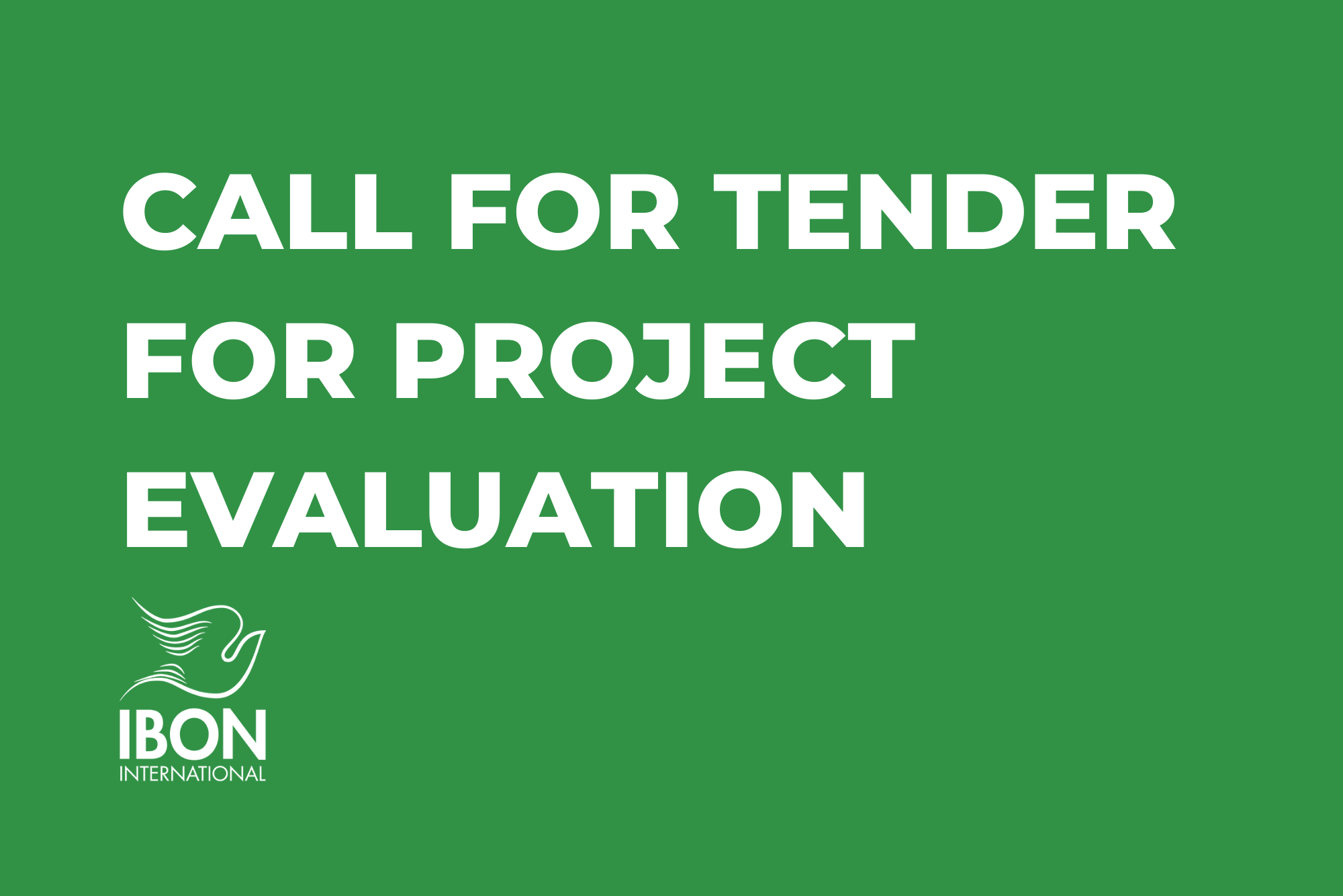Call for Tender for Project Evaluation