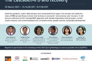 Online forum / An economic future for whom? The Cascade/MFD and recovery (March 25)