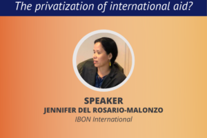 Webinar / Blended finance: The privatization of international aid? (March 31)