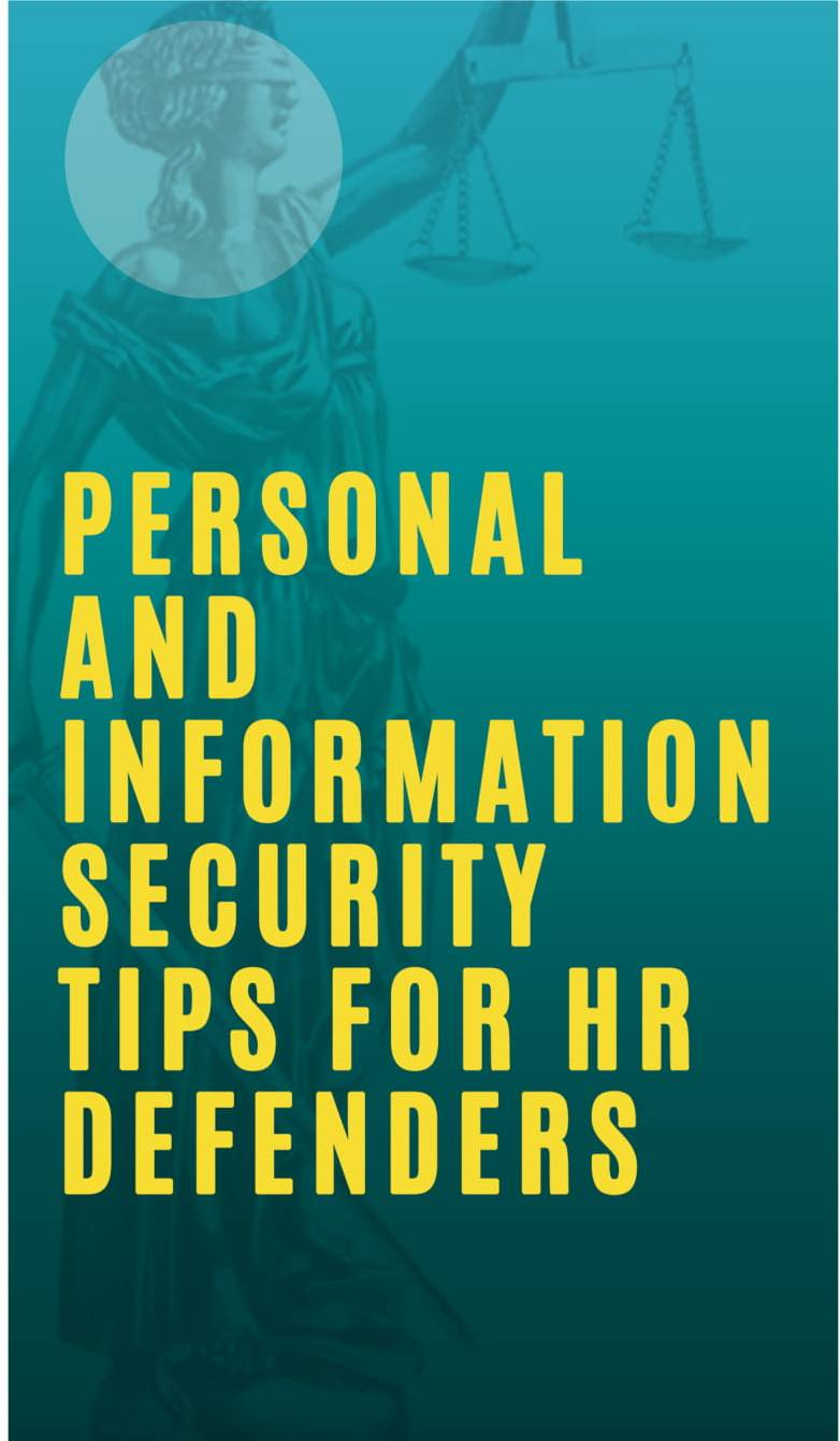 Personal and Information Security Tips for Human Rights Defenders