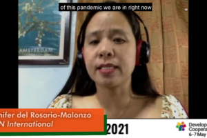 Advance development cooperation towards people-centred pandemic responses and climate action