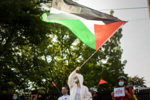 Support Palestinian liberation from US-backed Israeli occupation to uphold people's rights, enable people-centred development