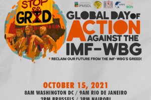 Global Day of Action against the IMF-WBG (October 15)