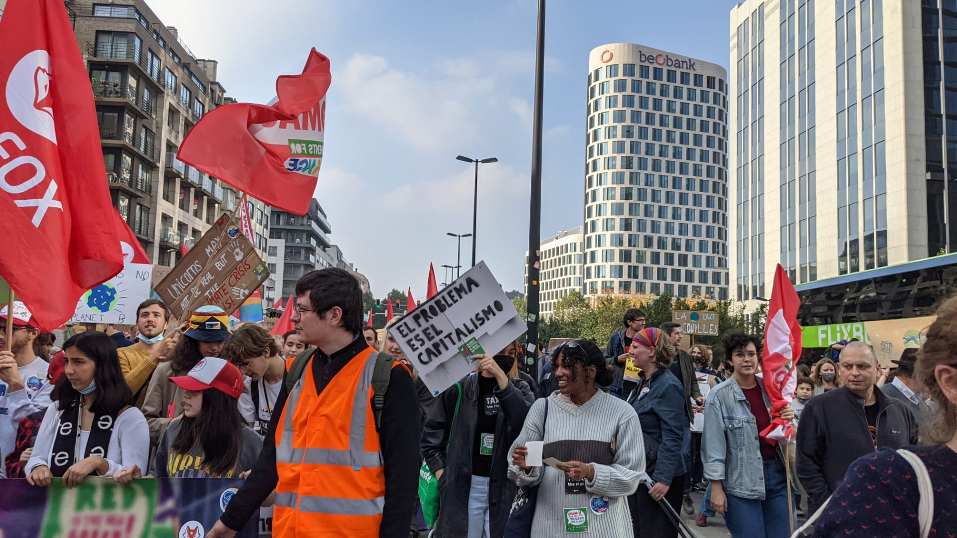 IBON Europe joins around 50,000 in Brussels Climate March to Demand Swift and Tougher Action on Climate Change